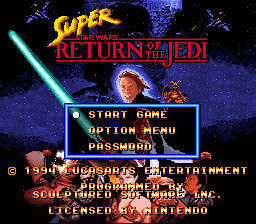 Super Star Wars - Return of the Jedi Title Screen