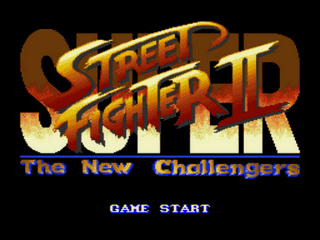 Super Street Fighter Challenge 2 Title Screen