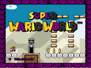 Super Wario World Hack Title Screen