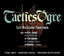 Tactics Ogre - Let Us Cling Together (english translation)
