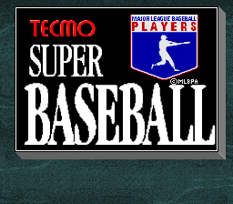 Tecmo Super Baseball Title Screen