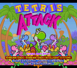 Tetris Attack Title Screen