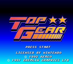 Top Gear Title Screen