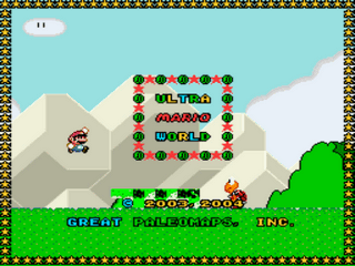 Ultra Mario World - Demo 1 Title Screen