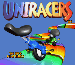Uniracers Title Screen