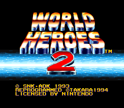 World Heroes 2 Title Screen