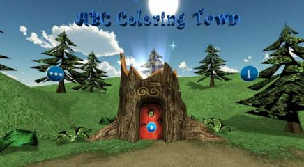 ABC Coloring Town Title Screen