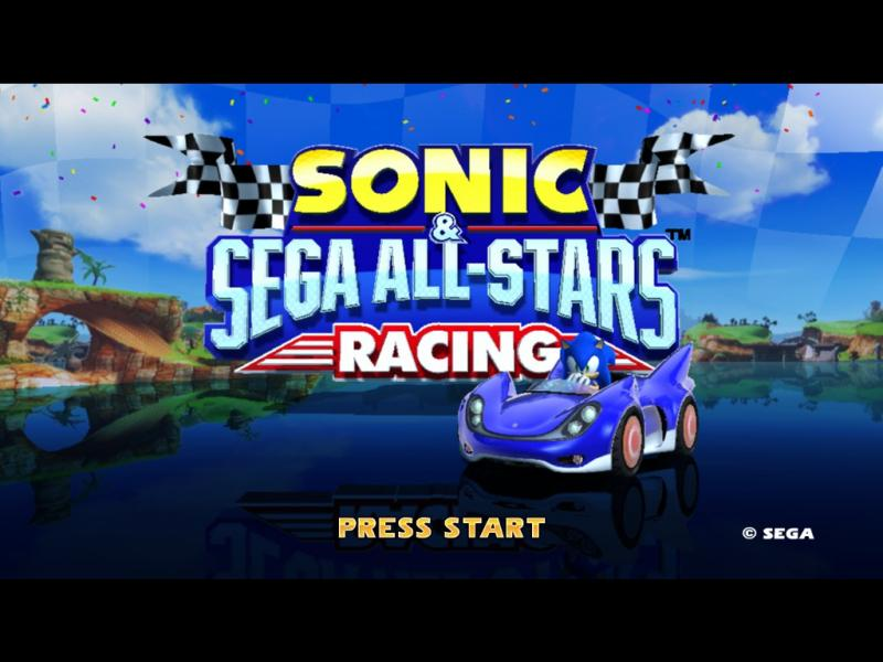 Sonic and SEGA All Stars Racing Title Screen