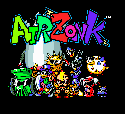 Air Zonk Title Screen