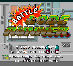 Battle Lode Runner Title Screen