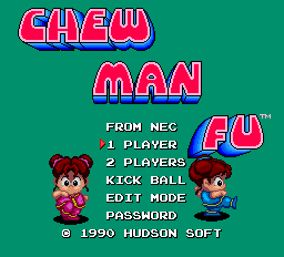 Chew Man Fu Title Screen
