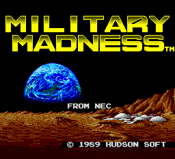 Military Madness Title Screen