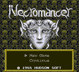 Necromancer Title Screen
