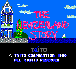 The New Zealand Story Title Screen