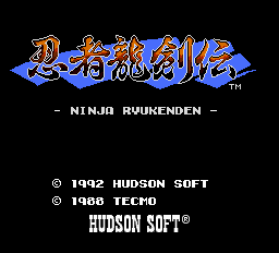 Ninja Ryukenden Title Screen