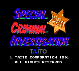 Special Criminal Investigation Title Screen