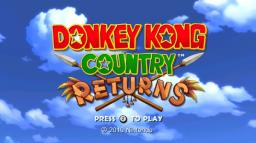 Donkey Kong Country Returns Title Screen