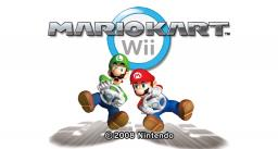 Mario Kart Wii Title Screen