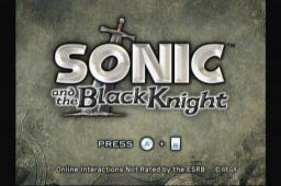 Sonic and the Black Knight Title Screen