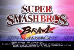 Super Smash Bros. Brawl Title Screen