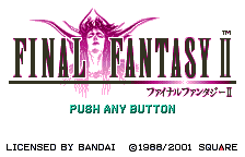 Final Fantasy II (english translation) Title Screen