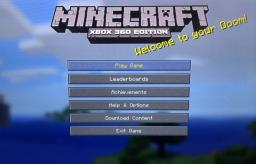 Minecraft: Xbox 360 Edition Title Screen