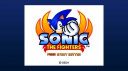 Sonic the Fighters Title Screen