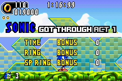 Sonic Advance 2 - My score. - User Screenshot