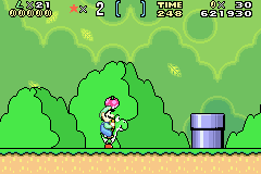 Super Mario Advance 2 - Super Mario World - barely more points - User Screenshot