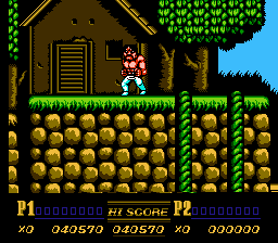 Double Dragon II - The Revenge - Tossed over. - User Screenshot