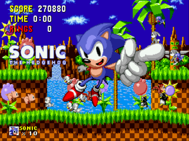 Sonic the Hedgehog - my score - User Screenshot