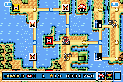 Super Mario Advance 4 - Super Mario Bros. 3 - First Try - User Screenshot
