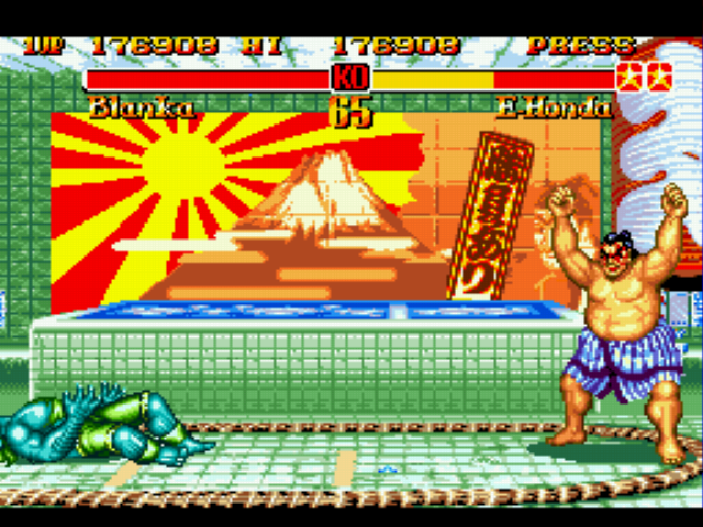 Super Street Fighter II - Oh shoots i scored - User Screenshot