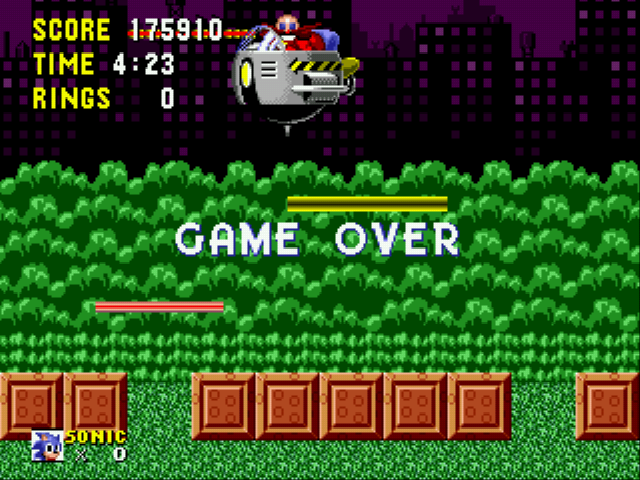 Sonic the Hedgehog - I did better - User Screenshot