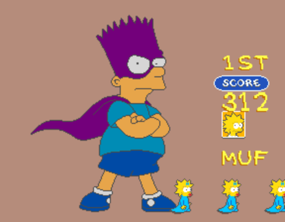 The Simpsons (4 Players World, set 1) - VC - User Screenshot
