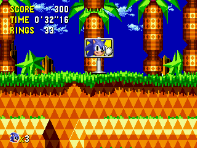 Sonic CD (european version) - Palmtree Panic 1 P - User Screenshot