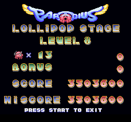 Parodius - Non-Sense Fantasy - Damn that is hard.  - User Screenshot