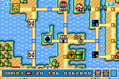 Super Mario Advance 4 - Super Mario Bros. 3 - World 3 - User Screenshot
