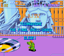 Teenage Mutant Ninja Turtles IV - Turtles in Time - Thats Turtle power! - User Screenshot
