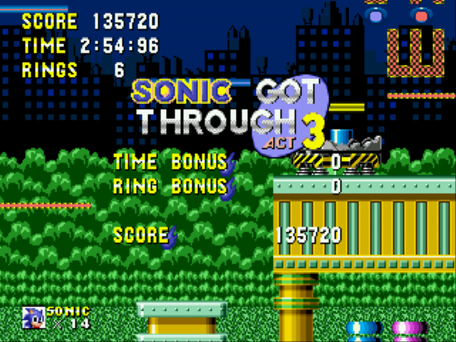 Sonic 1 Megamix (beta 4.0) - i did my best  - User Screenshot