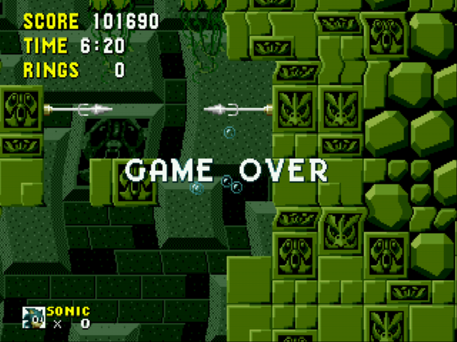 Sonic the Hedgehog - too hard here - User Screenshot