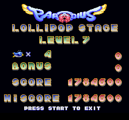 Parodius - Non-Sense Fantasy - Meh - User Screenshot