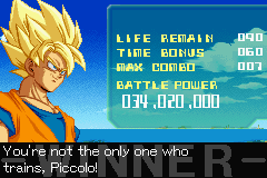 Dragon Ball Z - Supersonic Warriors - Z Battle Mode - User Screenshot