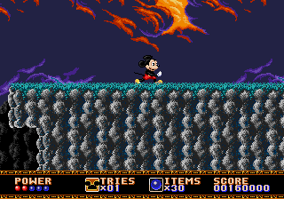 Castle of Illusion Starring Mickey Mouse - 1st try - User Screenshot