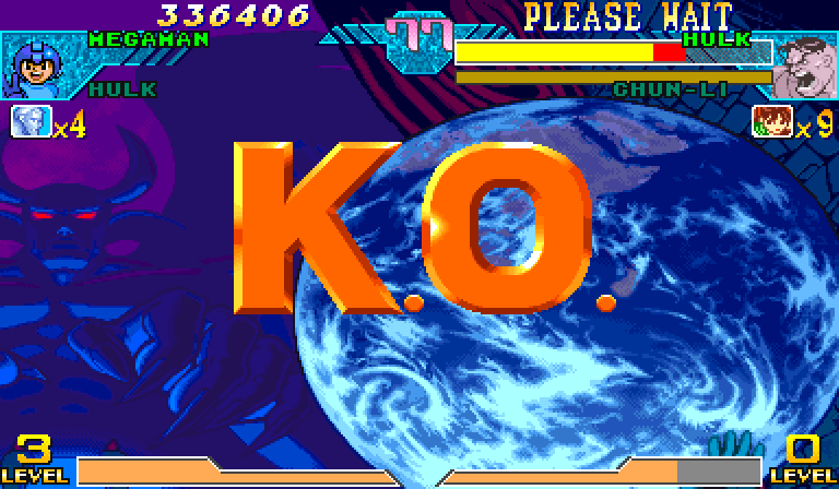 Marvel Vs. Capcom: Clash of Super Heroes (Euro 980123) - 1st try - User Screenshot