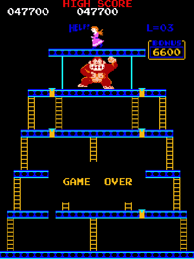 Donkey Kong (US set 1) - donkey kong score - User Screenshot