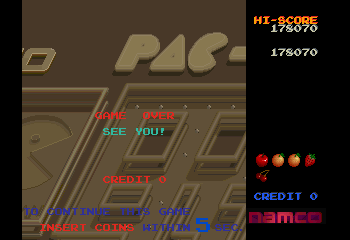 Namco Museum Vol. 5 - pac-mania - User Screenshot
