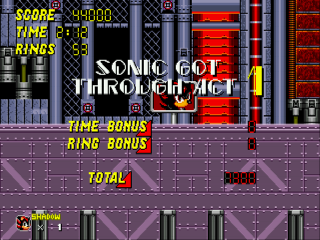 Sonic 2 - Project Shadow - FIRST PLACE!!! - User Screenshot
