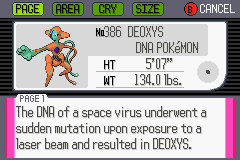 Pokemon Ruby - Character Profile Pokedex -  - User Screenshot