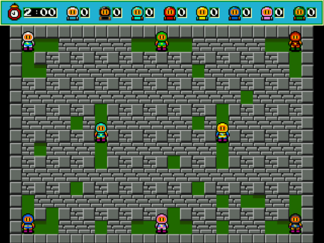 Bomberman (blue) -Level :8 Players! - User Screenshot